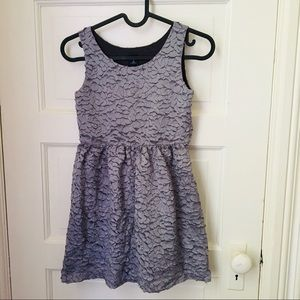 3 for $40 Gap gray laser cut pattern dress(size 8)